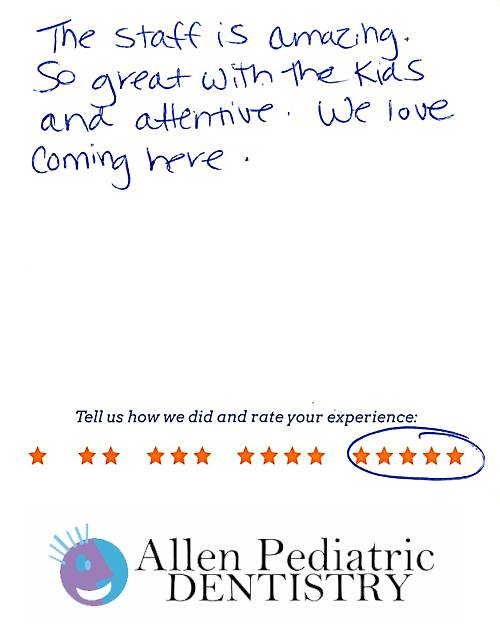 Allen Pediatric Dentistry review by Jennifer C. in Allen, TX on November 19, 2016