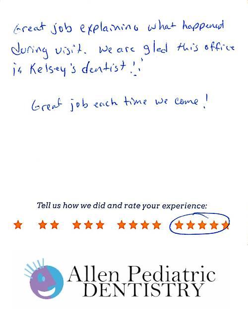 Allen Pediatric Dentistry review by Brad W. in Allen, TX on November 19, 2016