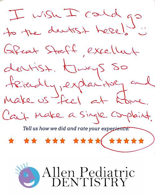 Allen Pediatric Dentistry review by Abby C. in Allen, TX on November 19, 2016