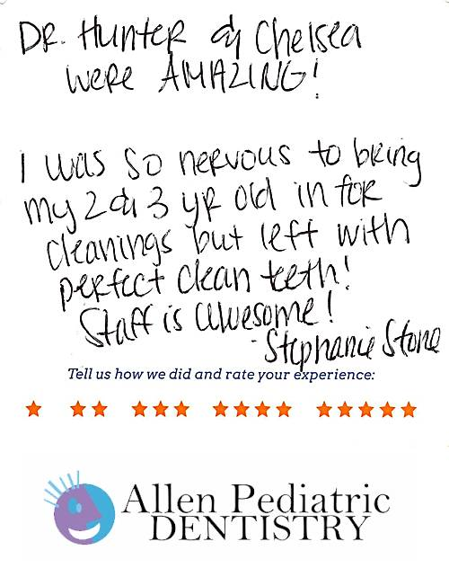 Allen Pediatric Dentistry review by Stephanie S. in Allen, TX on January 19, 2017