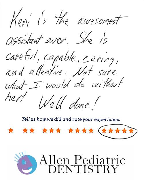 Allen Pediatric Dentistry review by Ben Q. in Allen, TX on January 19, 2017