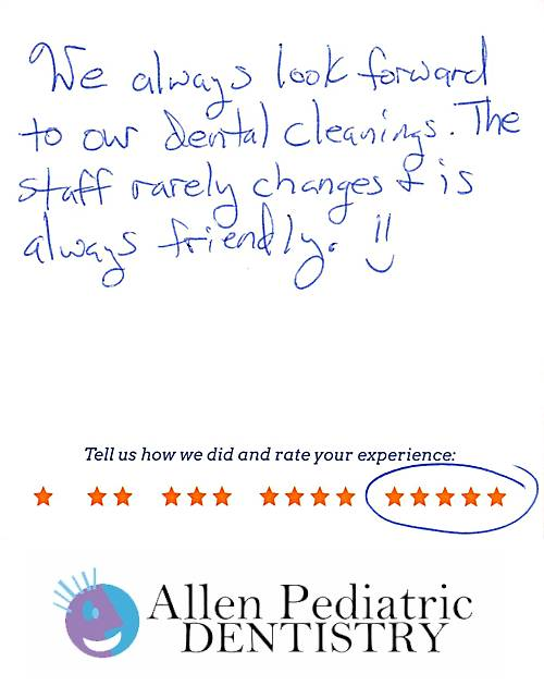 Allen Pediatric Dentistry review by Stacy G. in Allen, TX on January 19, 2017