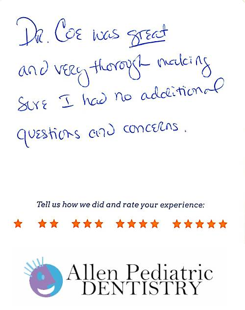Allen Pediatric Dentistry review by Kiera C. in Allen, TX on May 12, 2017
