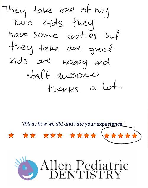 Allen Pediatric Dentistry review by Karla M. in Allen, TX on May 12, 2017