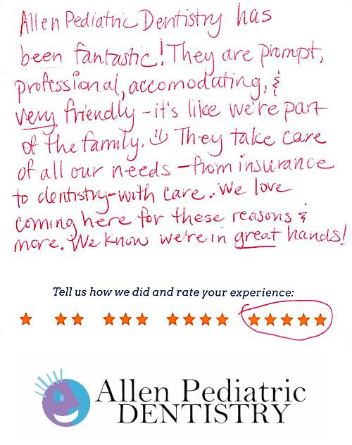 Allen Pediatric Dentistry review by Michelle B. in Allen, TX on May 12, 2017