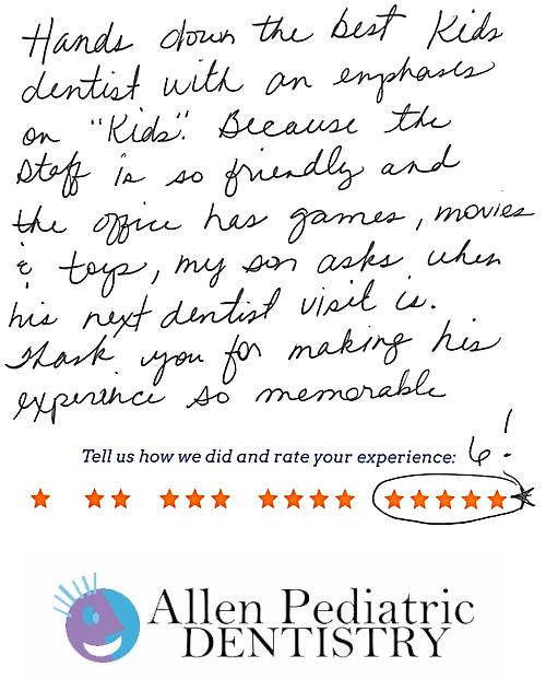 Allen Pediatric Dentistry review by Karissa A. in Allen, TX on May 12, 2017