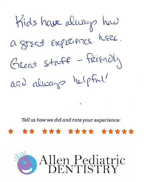 Allen Pediatric Dentistry review by Matthew C. in Allen, TX on May 12, 2017