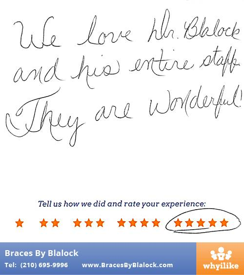Braces By Blalock review by Brenda T. in Helotes, TX on March 26, 2017