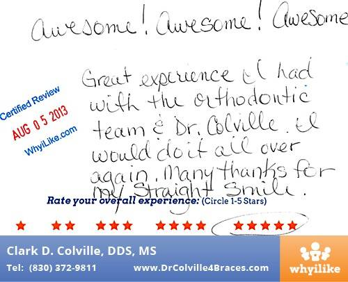 Orthodontics Specialists of Seguin Patient Review by Brenda B in Seguin, TX