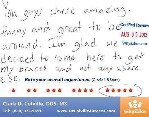 Orthodontic Specialists of Seguin Patient Review by Luke H in Seguin, TX