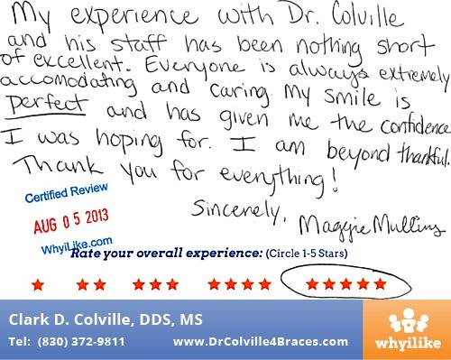 Orthodontic Specialists of Seguin Patient REview by Maggie M in Seguin TX