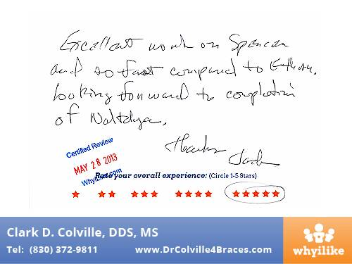 Orthodontic Specialists of Seguin Patient Review by Jack B