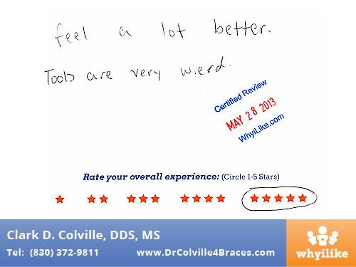 Orthodontic Specialists of Seguin Patient Review by Reed C