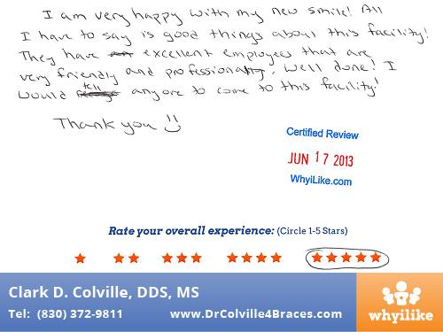 Orthodontic Specialists of Seguin in Seguin, TX Patient Review by Alia H