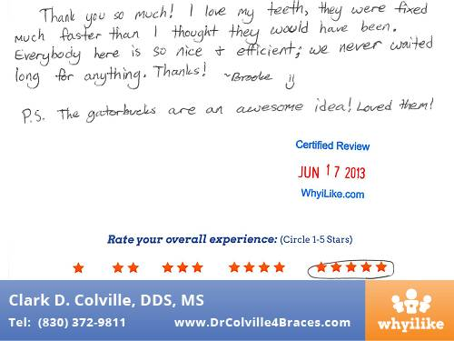 Orthodontic Specialists of Seguin in Seguin, TX Patient Review by Brooke M