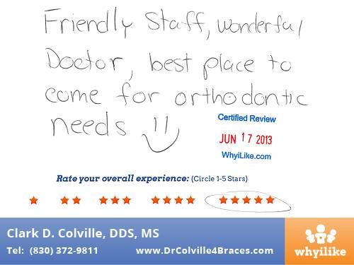 Orthodontic Specialists of Seguin in Seguin, TX Patient Review By Rachel S