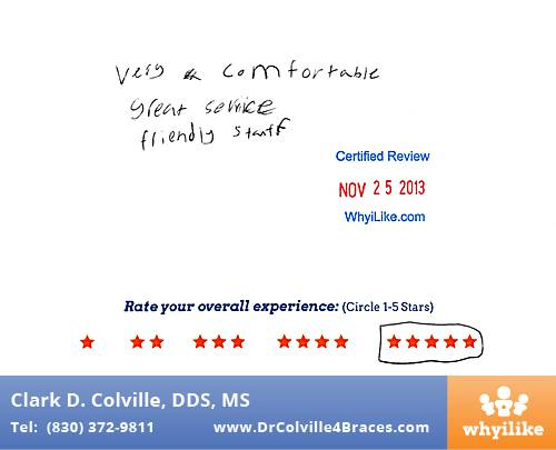 Orthodontic Specialists of Seguin review by Kobe G. in Seguin, TX