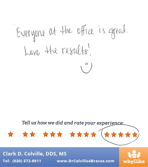 Orthodontic Specialists of Seguin review by Cody A. in Seguin, TX on April 01, 2017