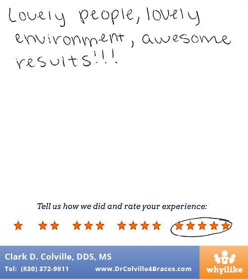 Orthodontic Specialists of Seguin review by Esmeralda C. in Seguin, TX on July 07, 2017