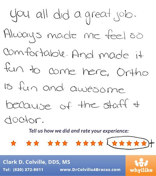 Orthodontic Specialists of Seguin review by Lizbeth V. in Seguin, TX on August 15, 2017