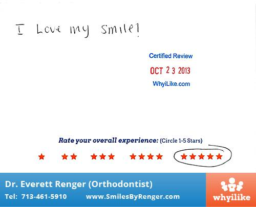Renger Orthodontics Review by Andrew N. in Houston, TX