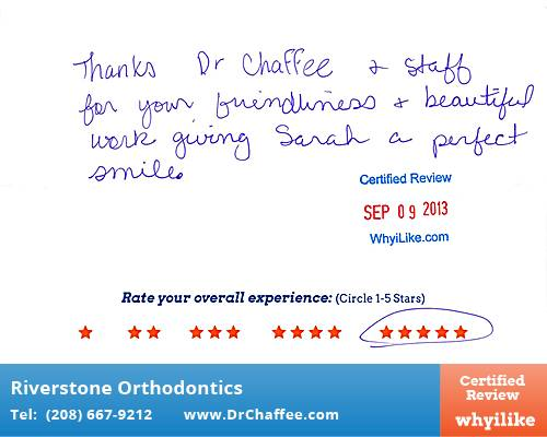 Riverstone Orthodontics Review by Carol M. in Coeur D
