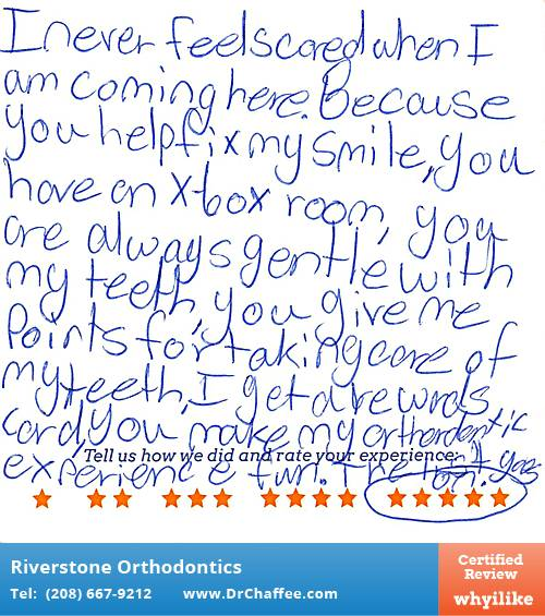 Riverstone Orthodontics review by Emma D. in Coeur D'Alene, ID on March 22, 2016