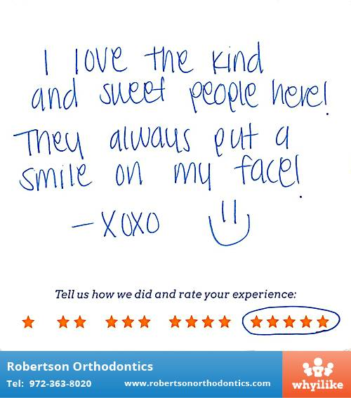 Robertson Orthodontics review by Kelsee S. in Lucas, TX on January 21, 2016