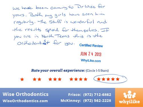 Wise Orthodontics Patient Review by John R