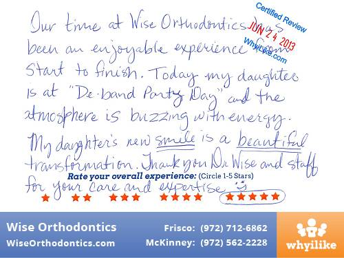 Wise Orthodontics Patient Review by Logan B