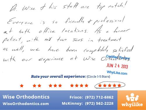 Wise Orthodontics Patient Review by Mike C