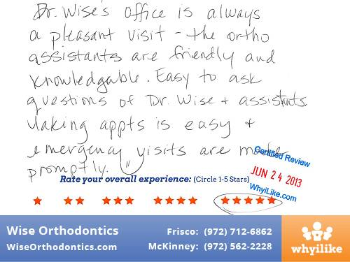 Wise Orthodontics Patient Review By Sandra L