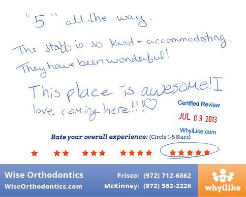 Wise Orthodontics Patient Review by Grace M