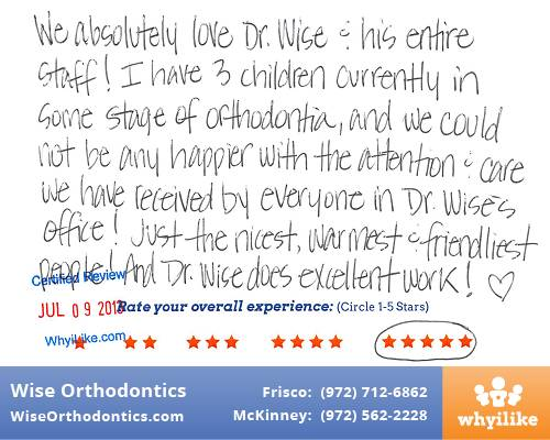 Wise Orthodontics Patient Review by Jennifer Z