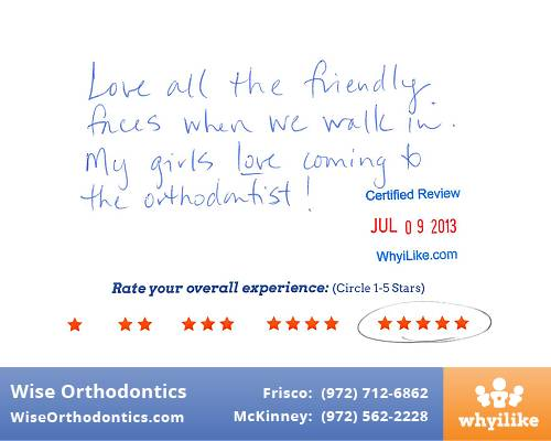 Wise Orthodontics Patient Review by Kim M