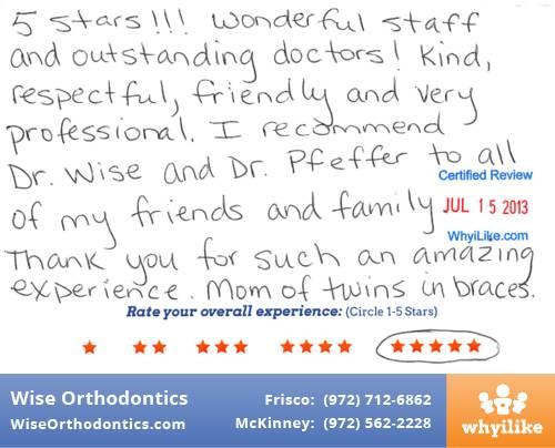 Wise Orthodontics Patient Review By Aimee K