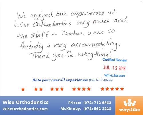 Wise Orthodontics Patient Review By Julie D