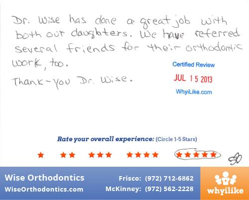 Wise Orthodontics Patient Review By Roslyn C