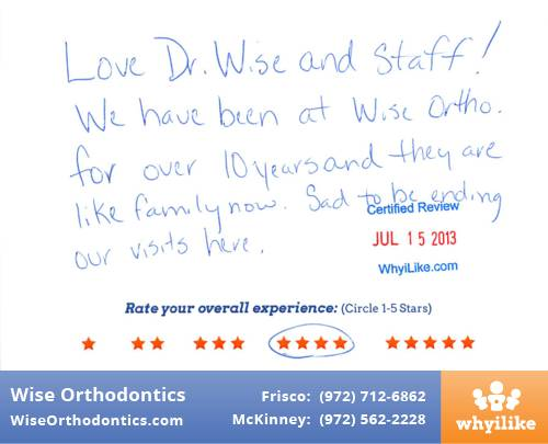 Wise Orthodontics Patient Review by Teresa C