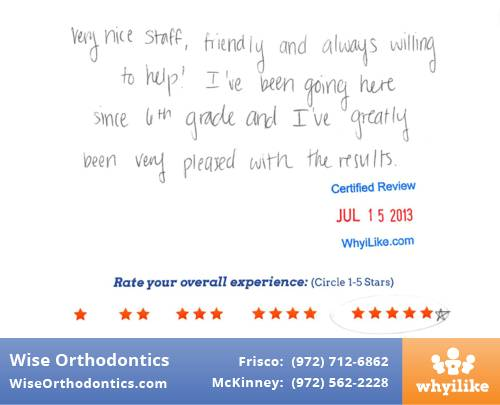Wise Orthodontics Patient Review By Vy H