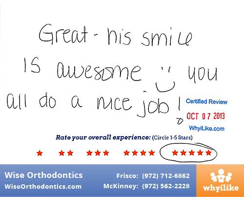 Wise Orthodontics Review by Zach C. in Frisco, TX
