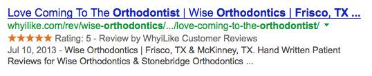 Wise Orthodontics Frisco, TX Review