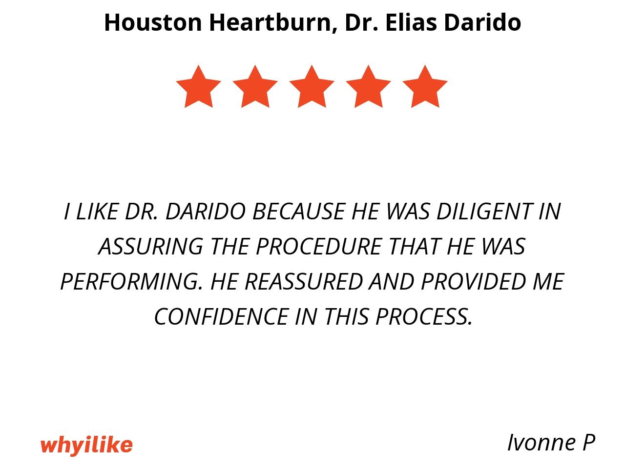 Testimonials - Houston Heartburn and Reflux Center