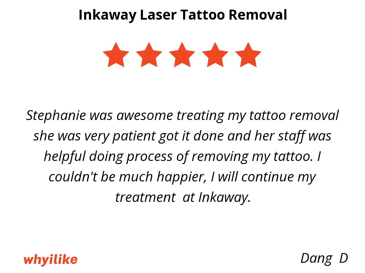 Why I like Inkaway Laser Tattoo Removal