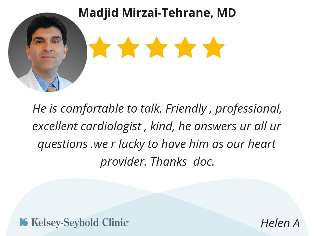 Madjid Mirzaitehrane, MD | Houston Cardiologist | Kelsey-Seybold